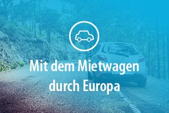"""Ein Autobild mit dem Titel """"Mit dem Mietwagen durch Europa"""""""