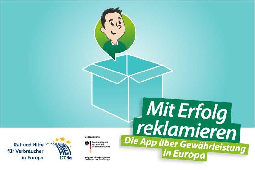 Schriftzug: Mit Erfolg reklamieren. Gewährleistungsrechte in Europa.