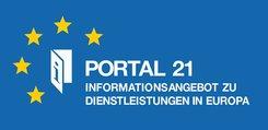 Logo Portal 21 - Informationsangebot zu Dienstleistungen in Europa.