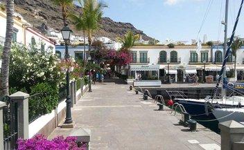 Die Ortschaft Puerto de Mogan auf Gran Canaria.